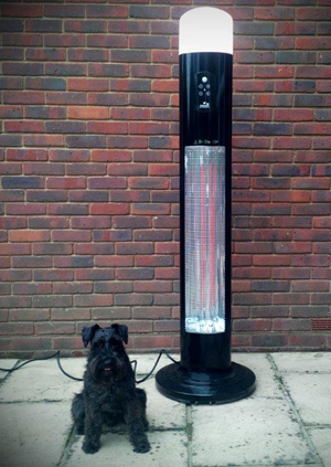 A dog and a heater.
