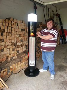 Michael with Red Bull heater