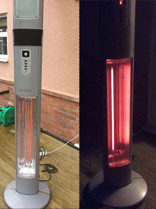 Fixed comparison patio heater