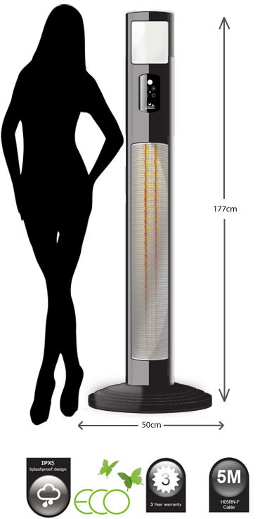 Garden Heater— Jupiter patio heater