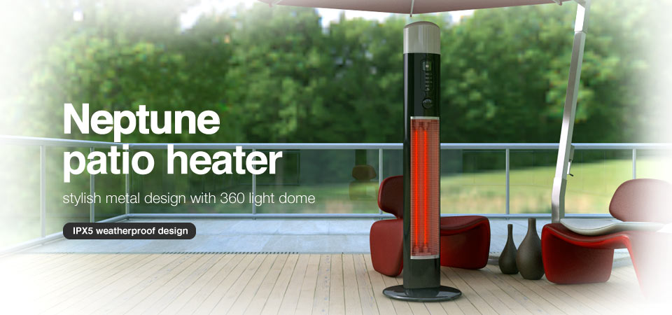 Chillchaser Neptune Patio Heater With Light