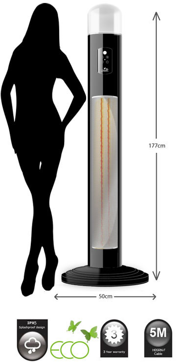 Chillchaser 174 Titan Patio Heater With Light