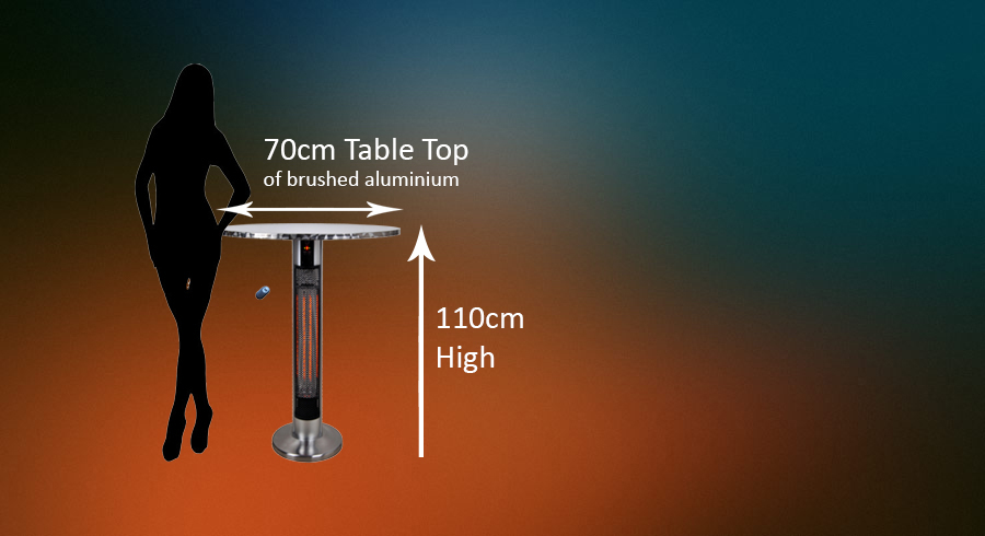table infrared patio heater