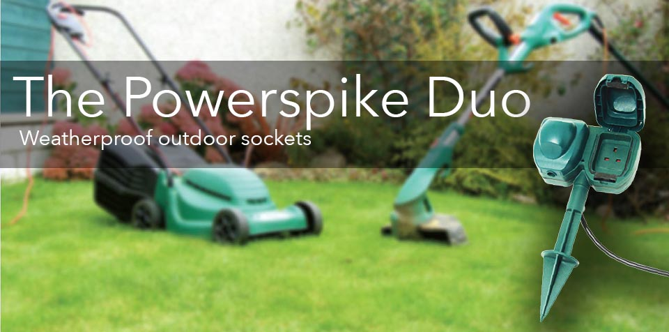 Powerspike weatherproof outdoor socket