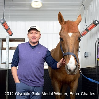 Peter Charles and his Nevada, use of horse solariums